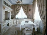 Вуалевые шторы для кухни